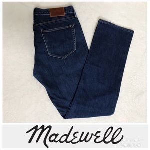 Madewell Rail Straight Dark Wash Jeans (27)